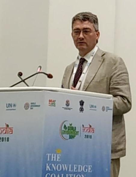Prof Mark Sutton opens the World Environment Day seminar on nitrogen