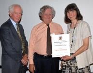 Marsh Wanless receiving her award