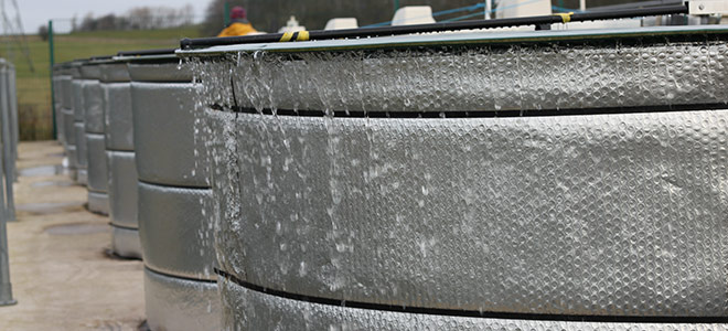 CEH Aquatic Mesocosm facility overflows