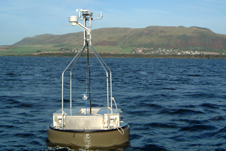 A monitoring buoy on Loch Leven