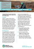 Cover of Monitoring and Observation Systems Science Area Summary