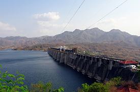 Dam in the Narmada basin
