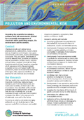 Cover of Pollution and Environmental Risk science area summary