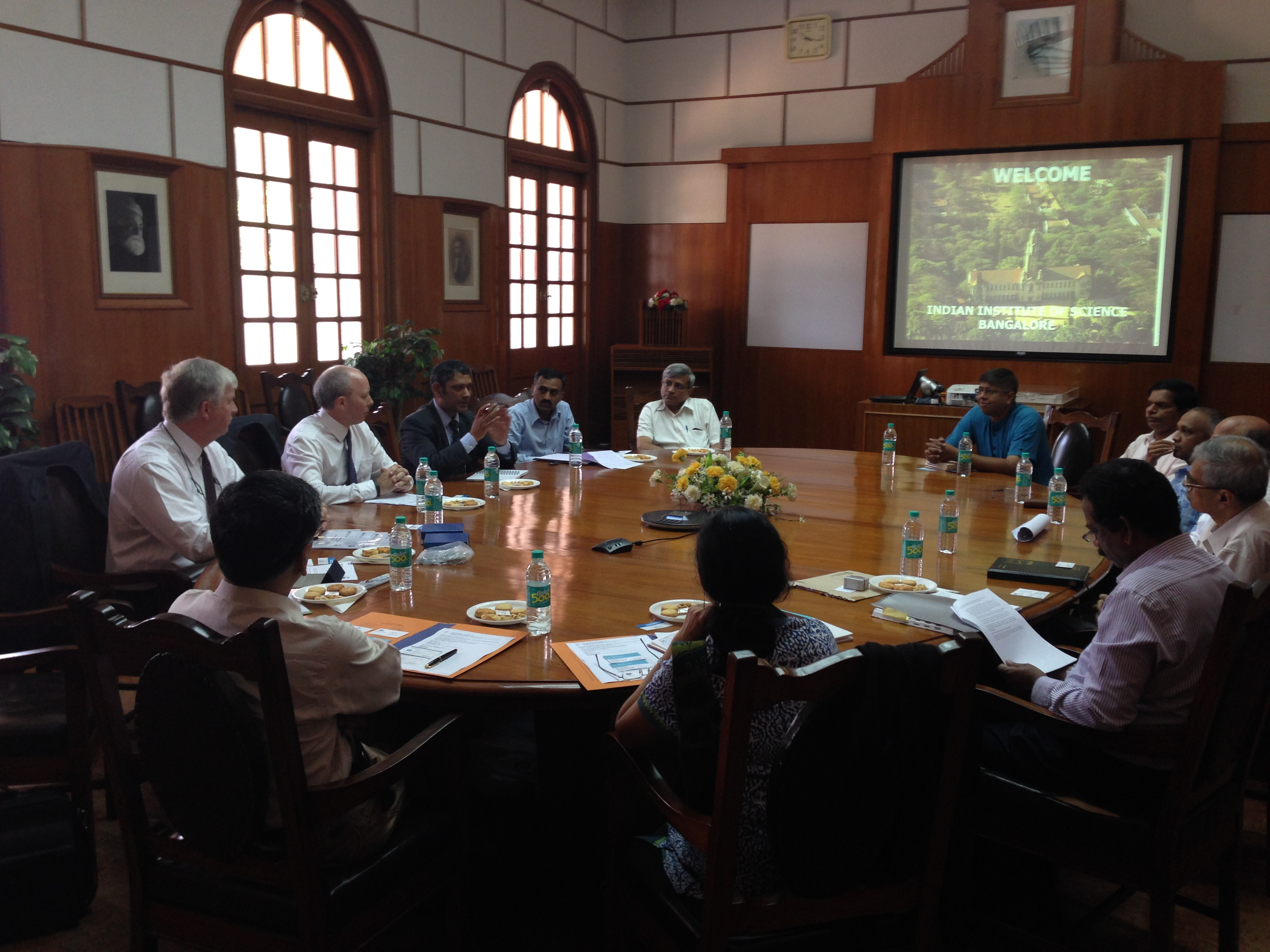 Professor Mark Bailey at the MoU signing event at the Indian Institute of Science