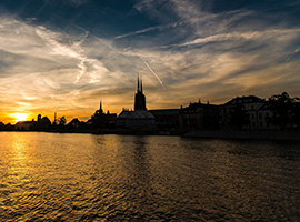 River in Wroclaw, Poland