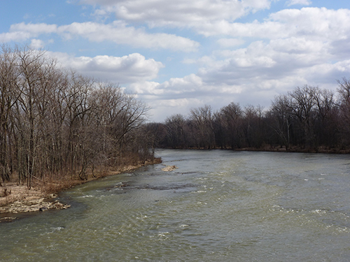 Sandusky river, which flows into Lake Erie