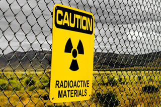 Caution radioactive materials sign image: shutterstock