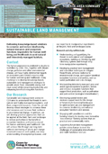 Cover of Sustainable Land Management science area summary