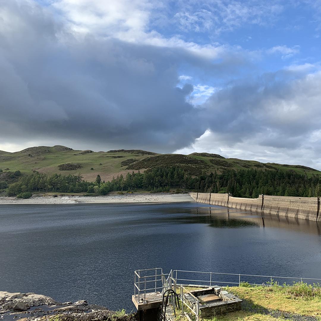 Low water levels in Haweswater (Cumbria), taken 3 June 2020. Photo c. Katie Muchan