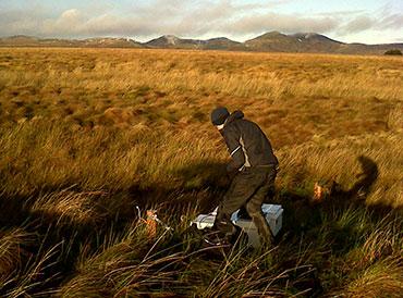 Fieldwork Black Burn Auchencorth Moss. Photo: Ian Leith