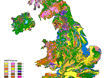 Hydrology of Soil Types 1km Grid