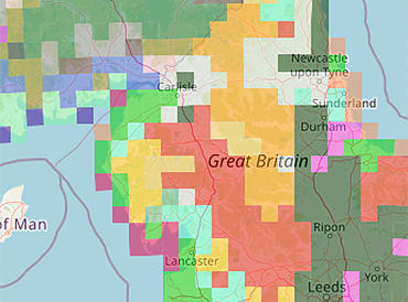 Ecological status viewer map