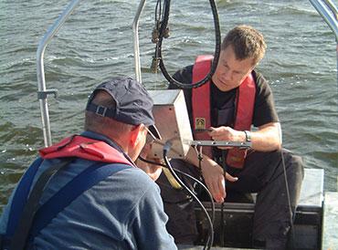 Working on Loch Leven