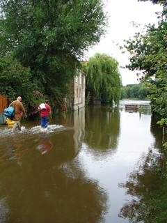 Summer floods at Wallingford, 2007