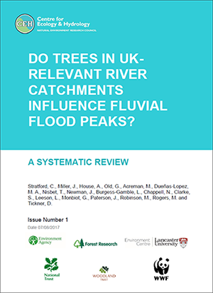 Cover of trees and river catchment flooding report