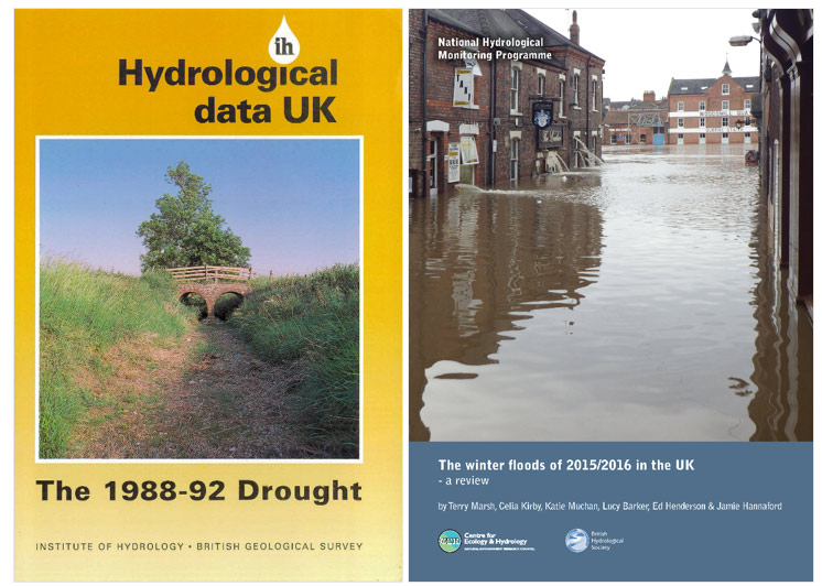 Covers of two reports from the National Hydrological Monitoring Programme