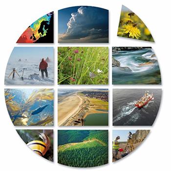 Collage illustrating interests of the UK Environmental Observation Framework
