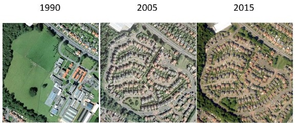 Urbanisation Edinburgh 1990-2015
