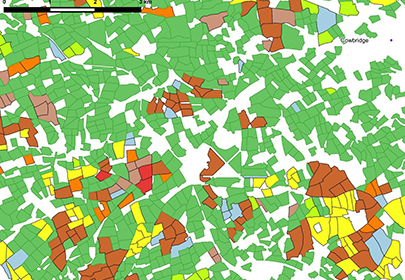 Detail from Vale of Glamorgan county borough in CEH Land Cover plus Crop Map 2015