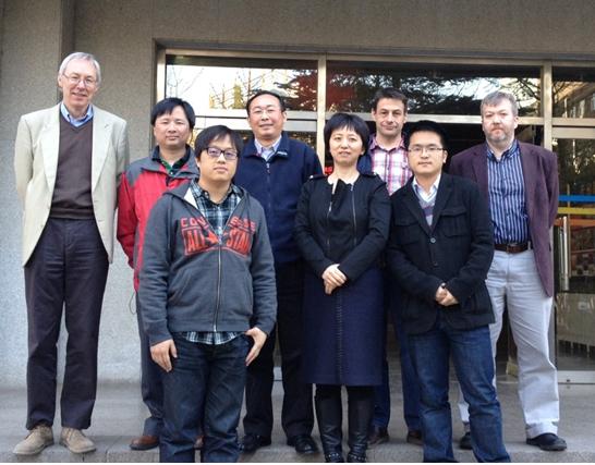 Visitors and hosts at CAS / RCEES April 2013.  Back row (L to R): Ed Tipping, Zulin Zhang, Yonglong Lu, Andy Sweetman, Steve Lofts.  Front row (L to R): Shijie Liu, Yajuan Shi, Li Xu