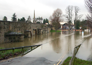 November 2012 flooding at Wallingford in Oxfordshire. Photo: Heather Lowther (CEH)