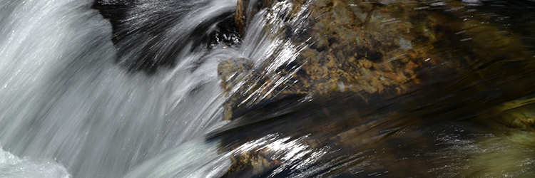 water flowing quickly